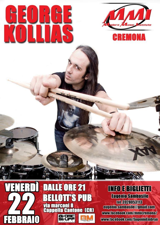 George Kollias: seminario di batteria a Cappella Cantone (CR)